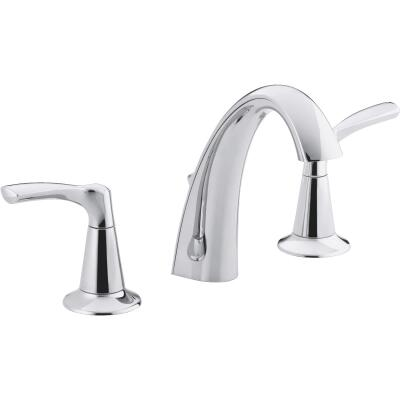 Kohler Mistos Chrome 2-Handle Lever 8 In. Widespread Bathroom Faucet with Pop-Up