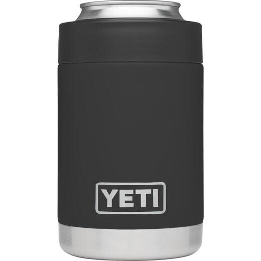 Yeti Rambler Colster 12 Oz. Black Stainless Steel Insulated Drink Holder