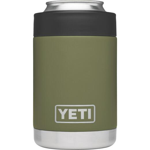 Yeti Rambler Colster 12 Oz. Olive Green Stainless Steel Insulated Drink Holder